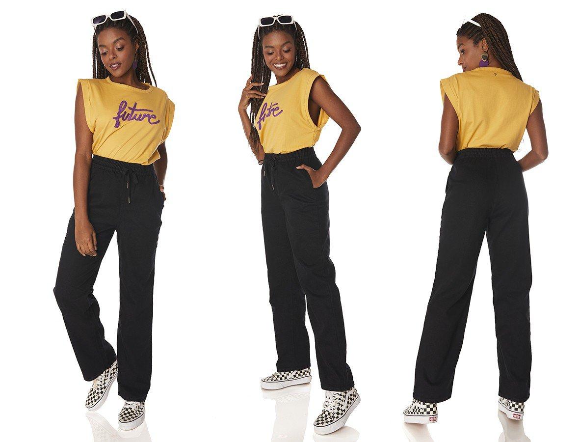 dz3883 com calca jeans feminina dad pants preto denim zero tripla