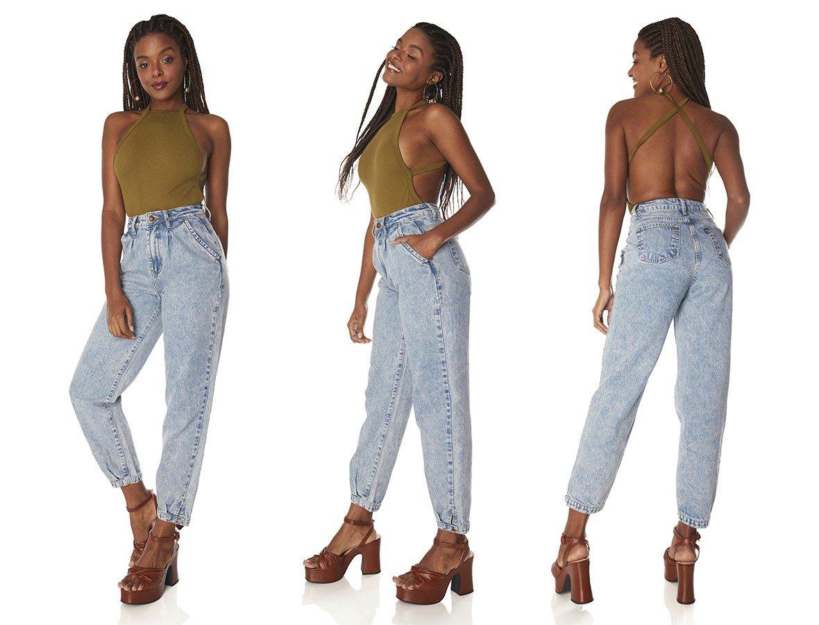 dz3836 alg calca jeans feminina balloon clarinha denim zero tripla