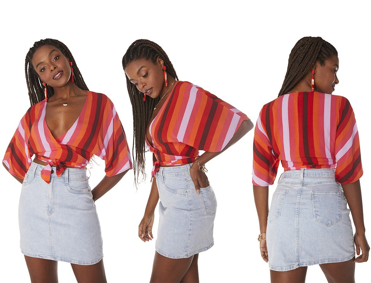 dz7203 com saia jeans feminina tubinho clarinha denim zero tripla
