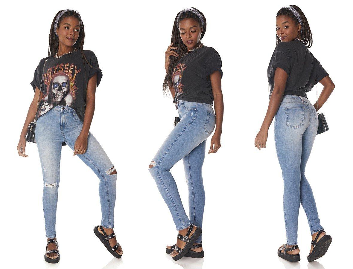 dz3832 re calca jeans feminina skinny media cigarerete rasgos joelho denim zero tripla