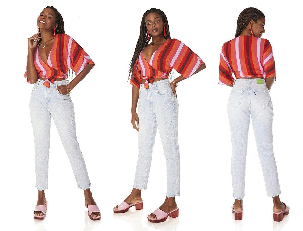 dz3840 com calca jeans feminina mom fit clarinha denim zero tripla