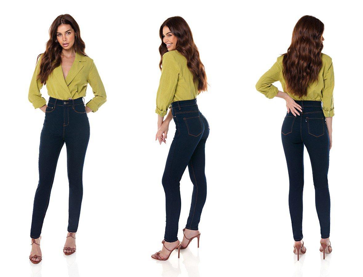 dz3706 com calca jeans feminina skinny hot pants tradicional denim zero tripla