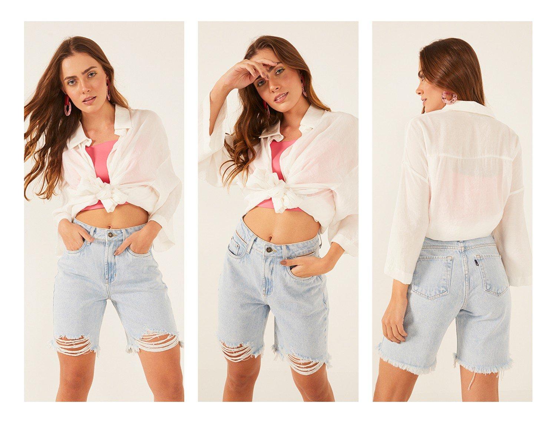 dz4049 alg bermuda jeans feminina mommy com barra irregular denim zero detalhe trio crop